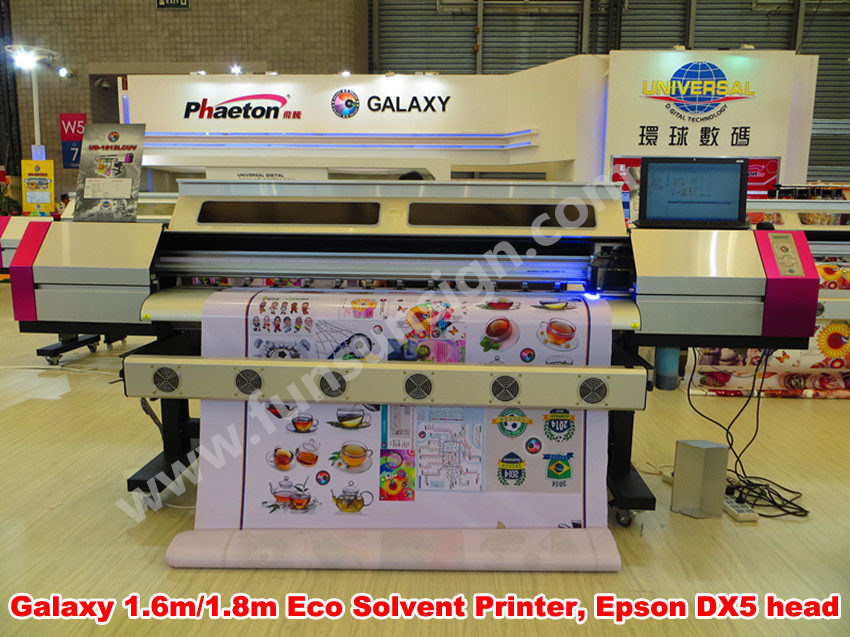 Galaxy Eco Solvent Printer Ud181LC Printer 1440dpi Resolution with Original Dx5 Printhead