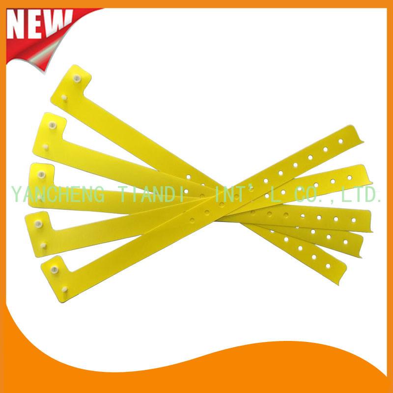 Entertainment One Time Use Promotion Custom Plastic ID Wristband (E8070-39)