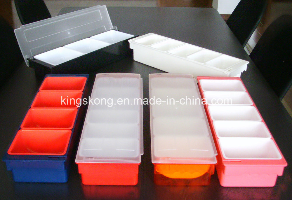 4/6- Compartment Plastic Condiment Holder Table Condiment Tray