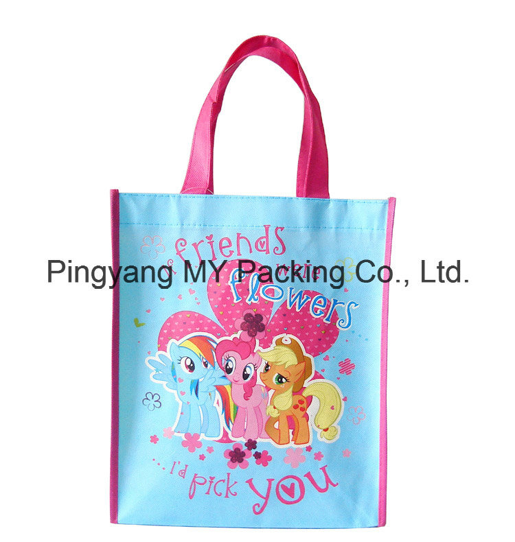 Professional Manufacturer Custom Promotional Shopping Handled Laminated Non-Woven Bag