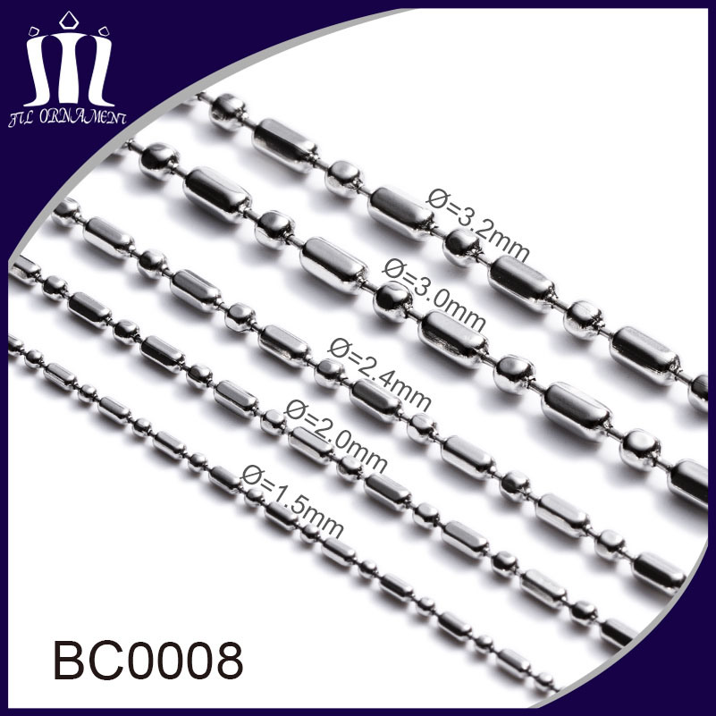 Cheap Stainless Steel Ball Chain Jewelry on Spool