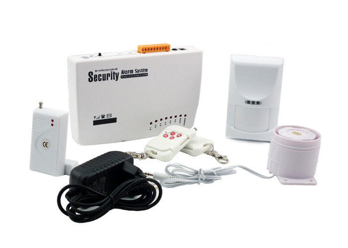 4 Wire / 6 Wireless Zones GSM Home Burglar Alarm Systems with Self - Checking