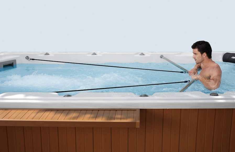 Outdoor Ss Jet Plunge Hot SPA Jacuzzi for Gym Tub