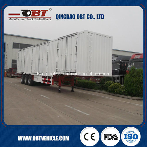 3 Axles 50t 60t Cargo Box Van Semi Trailer
