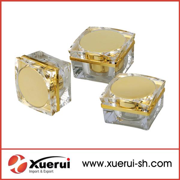 15g, 30g Petal Shape Cosmetic Empty Acrylic Cream Jar