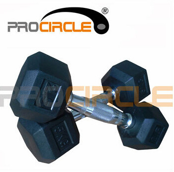 Crossfit Fitness Iron with Rubber Hex Dumbbell (PC-DD1001-1009)