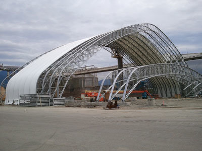 Large Span Prefabricated Arch Steel Building