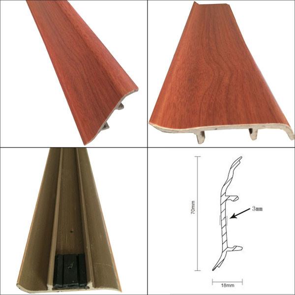 Laminate Flooring Accessories Plastic Skirting PVC Skirting