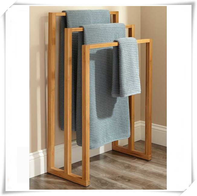 Hotel Style Bathroom Bamboo Towel Rack