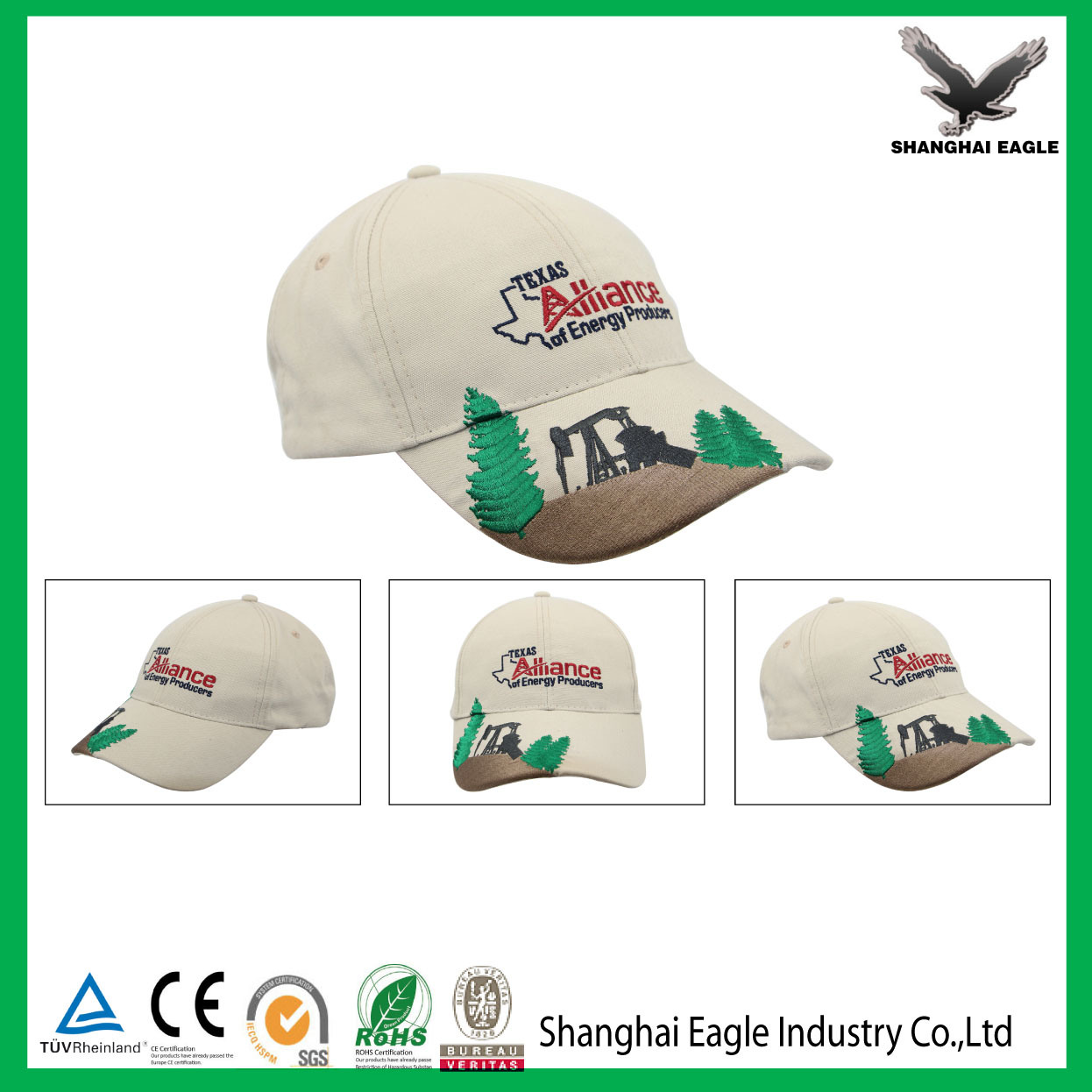 Promotional Customized Embroidery Logo Snapback Cap