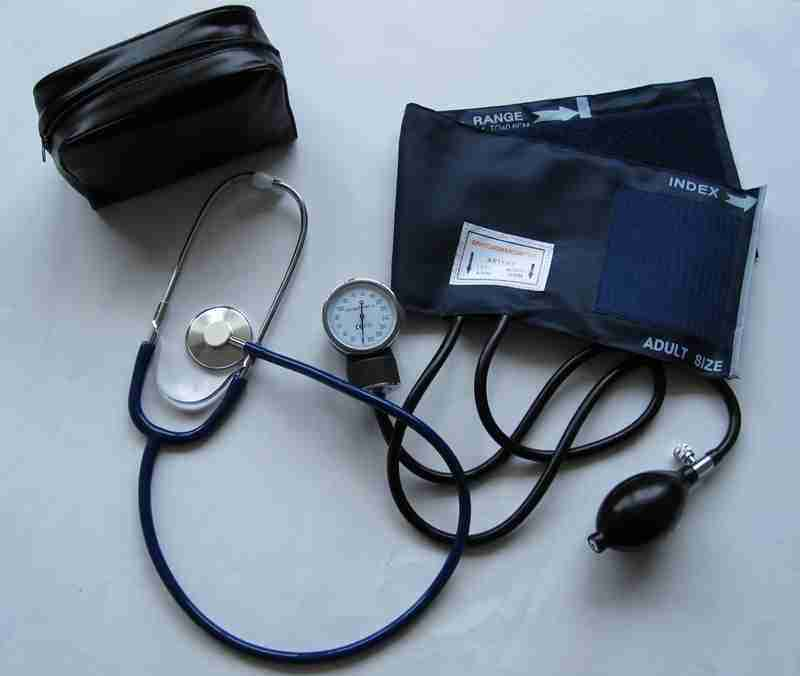 Classic Nylon Cuff-Mounted Aneroid Sphygmomanometer with Stethoscope