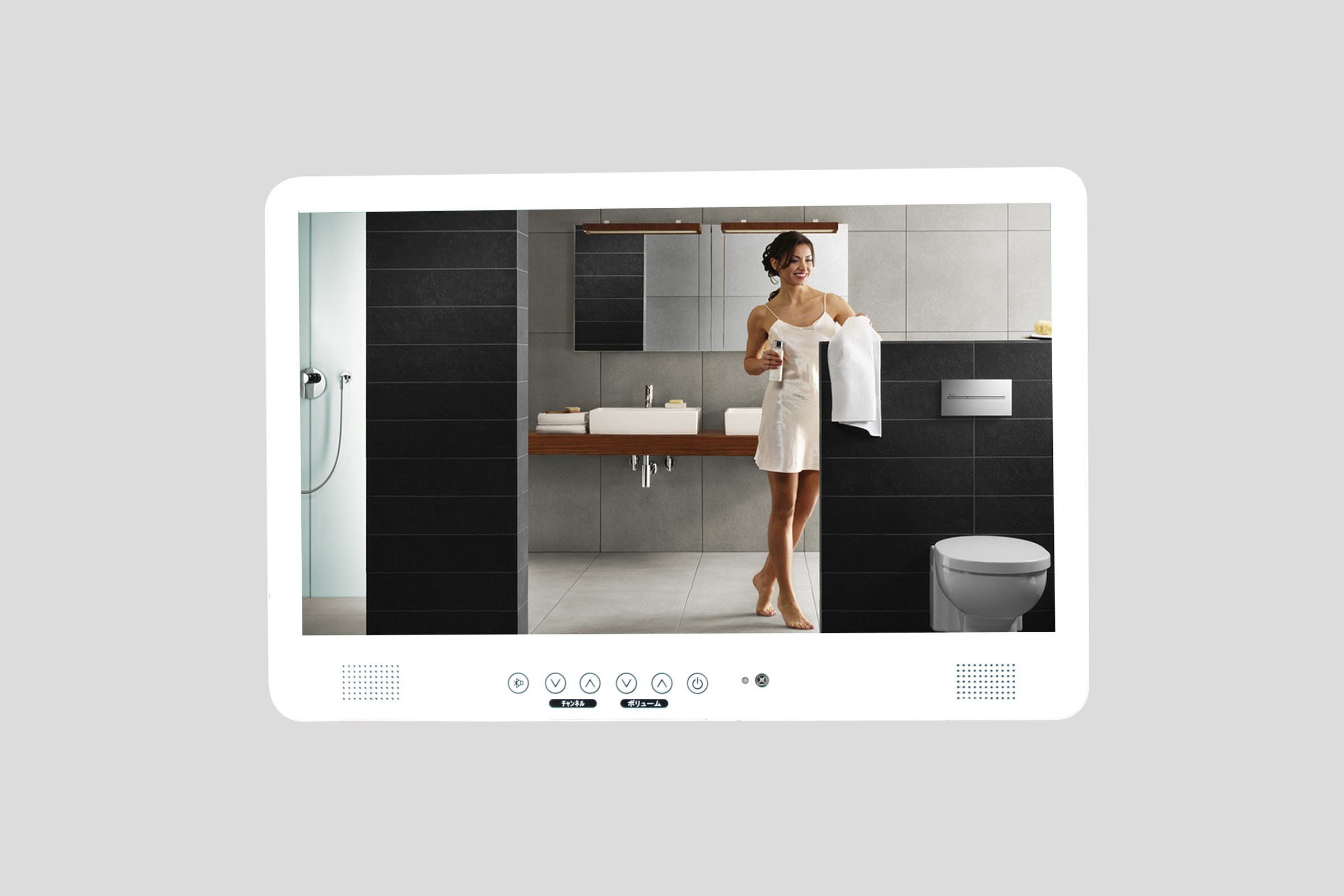 19 42 Inch LED TV Waterproof Bathroom Mirror Shower Room