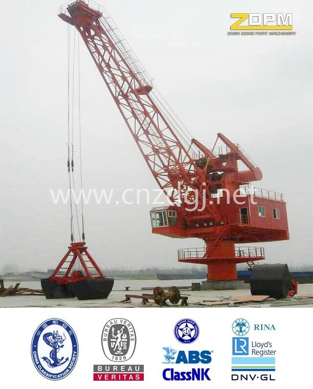 Fixed Hydraulic Marine/Port/Dock/Ship Crane for Sale China Supplier