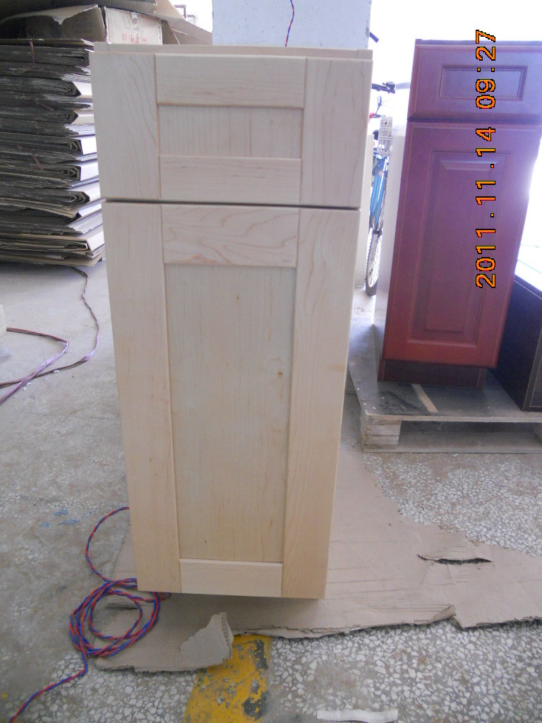Birch Wood Solid Wood Pantry Cabinet with Island Base Cabinets