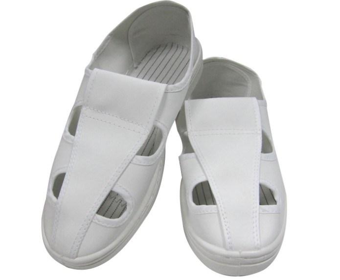 Four Hole Antistatic ESD White Shoe