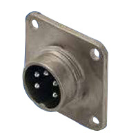 M16 Male Receptacle with Flange Mouting