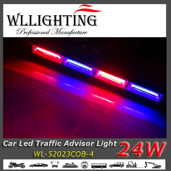 Red Blue Auto LED Lightbar with COB Chip