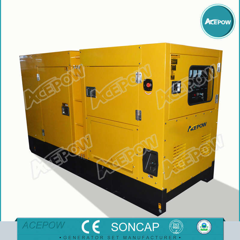 AC Three Phase 100kVA Low Noise Cummins Generator with ATS