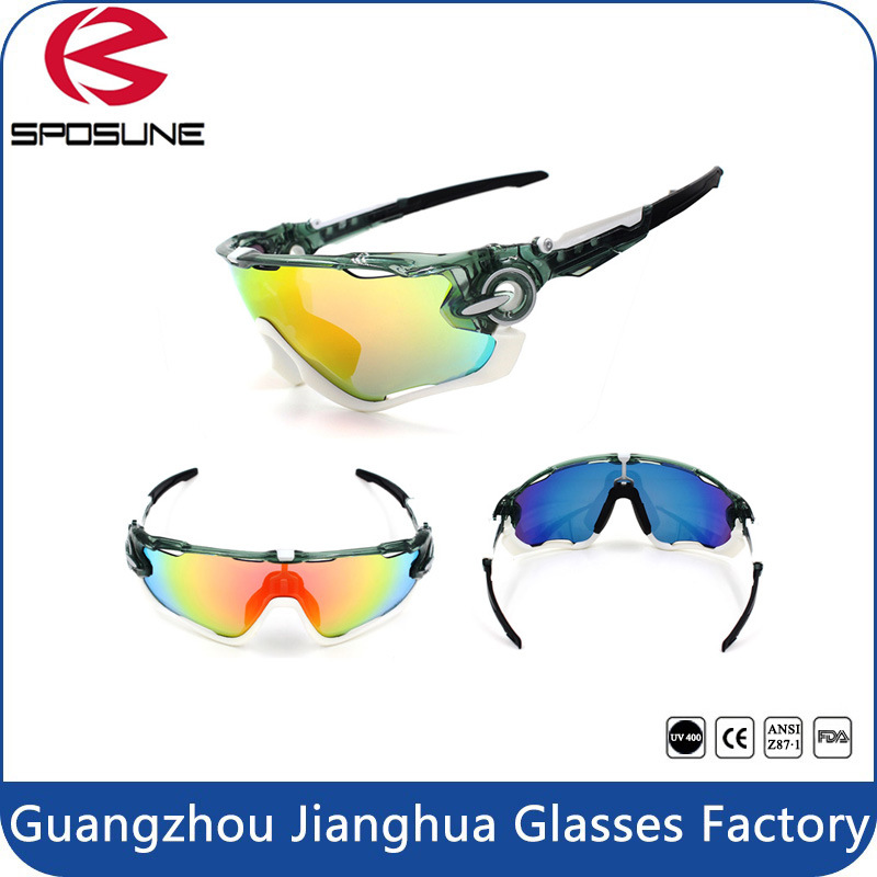 2015 Men′s Sport Full Shield Lens Wrap Around UV Protective Cycling Sport Glasses