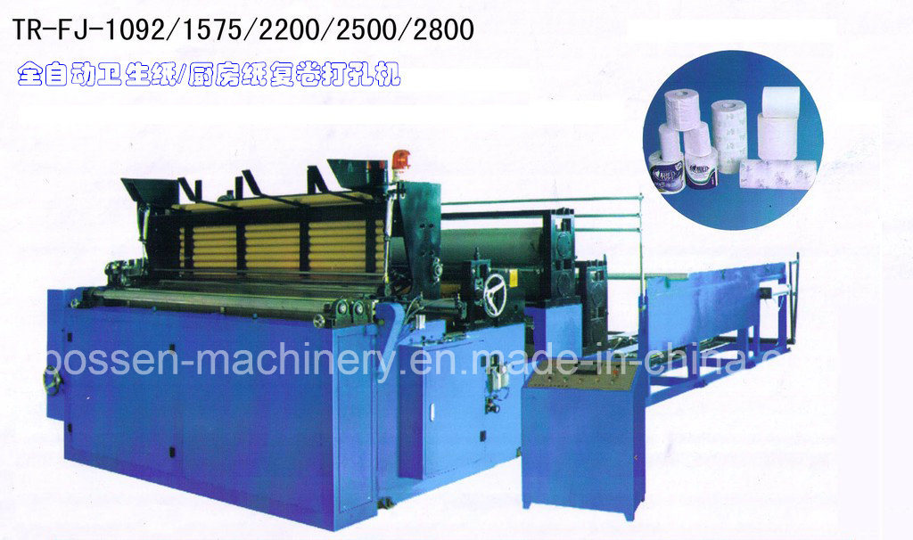 BS-Wfj-1092-a Colour Printing Automatic Toilet Paper Rewinding Machine
