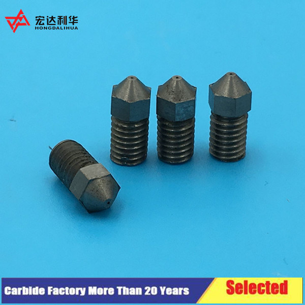 Soild Carbide 3D Printer Nozzle with 0.6mm /M6 From Manufacturer