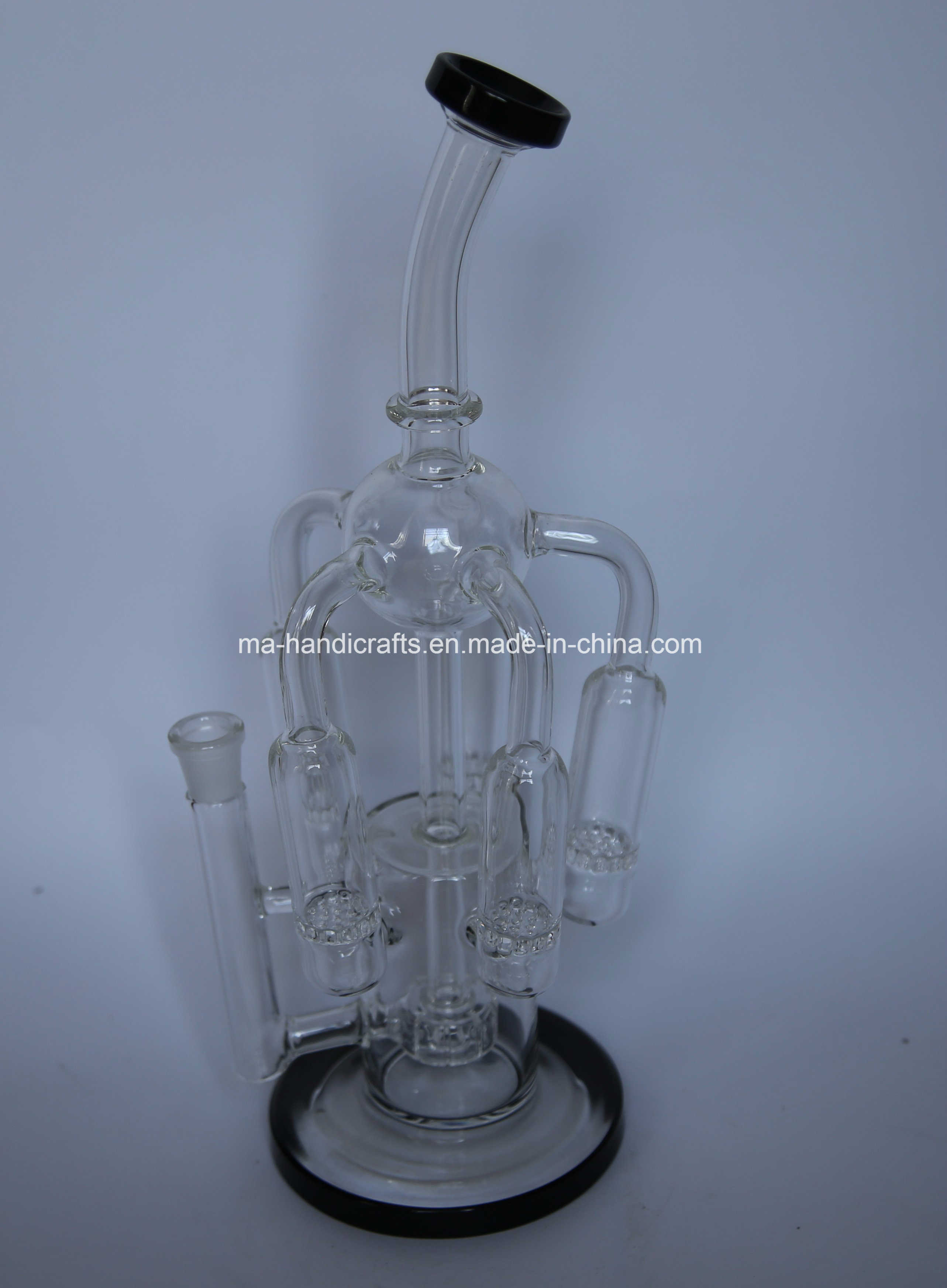 "14"" Hottest Black Boro Glass Bubbler for Smoking"