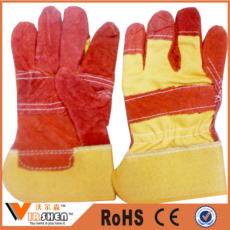 Ce En388 Fake Leather Working Gloves Industrial Safety Gloves for Workers