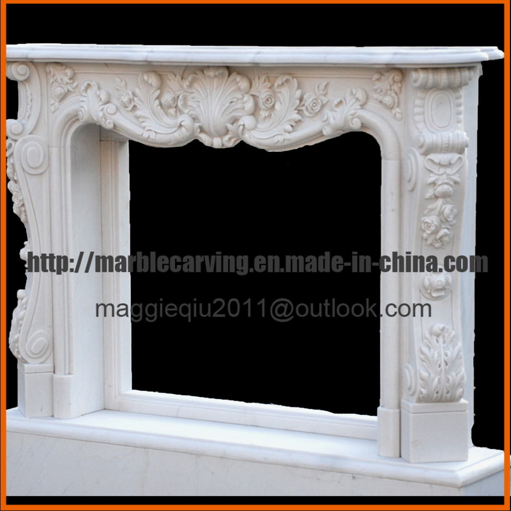 Marble Fireplace Indoor Decor Fireplace Mantel Surround Mf1706