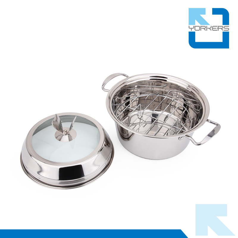 Fashion Stainless Steel Multi-Purpose Soup Pot & Steam Pot
