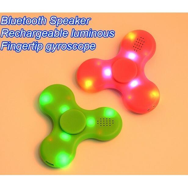 Factory Wireless Bluetooth Speaker Fidget Spinner with LED Light