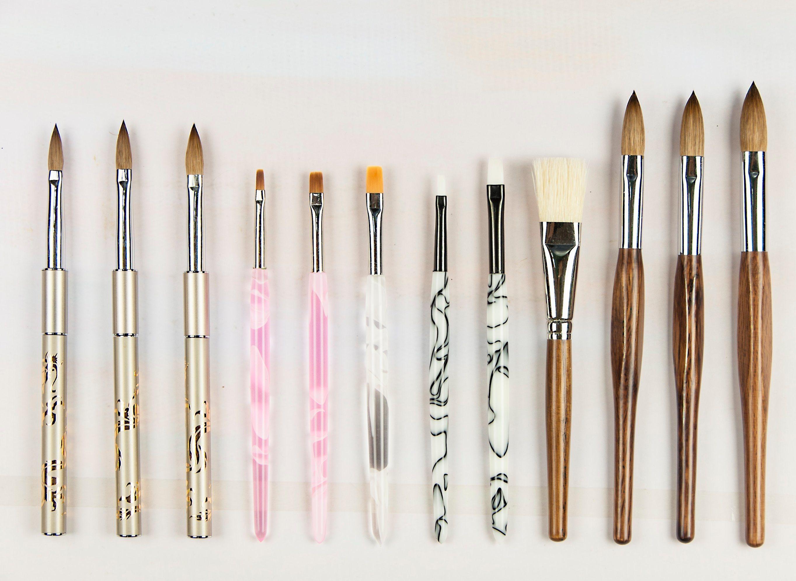High Quality Mink Hair Nail Makeup Brush Set