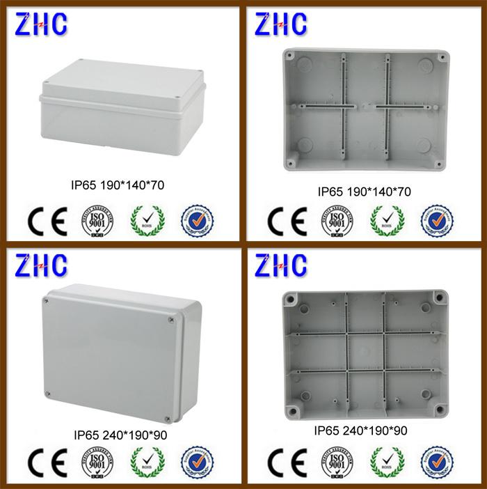 Waterproof Instrument Box 190*140*70mm Poly Carbonate Weatherproof DIN Rail Plastic Enclosure