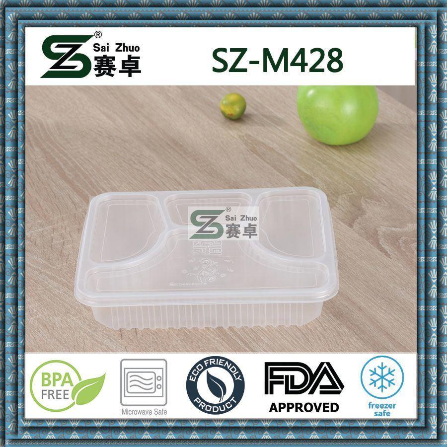 4 Compartment Luxury PP Disposable Plastic Food Storage Box