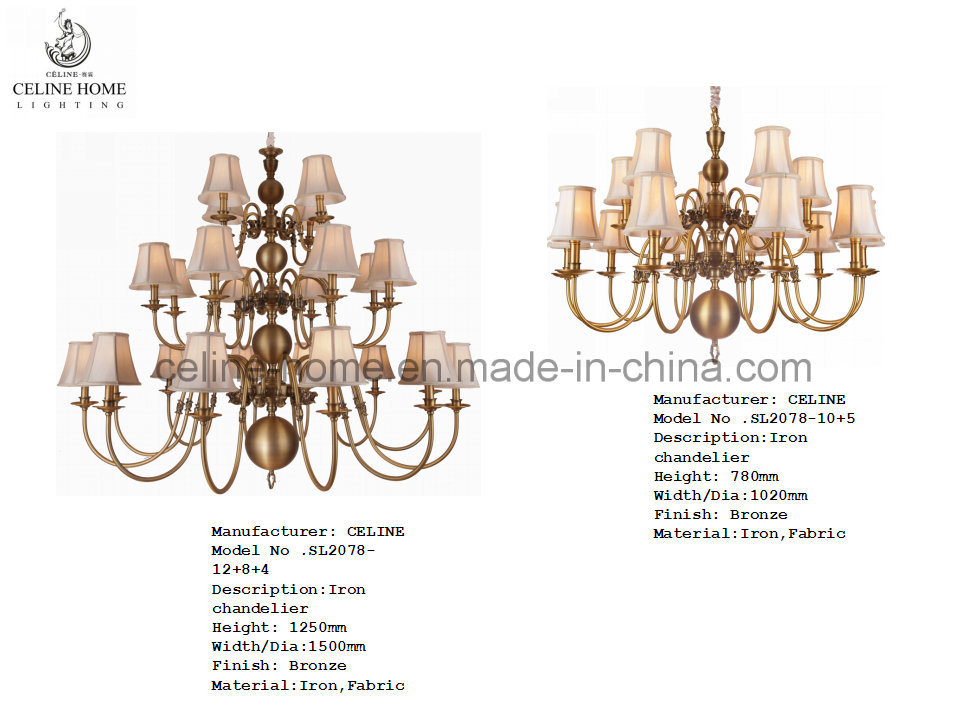 Classical Brass Chandelier Lighting (SL2078-6)
