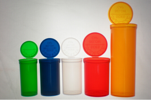 Pop Top Vials Child-Resistant FDA Qualified Material Pill Bottle