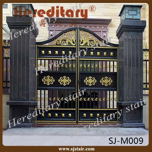 Exterior Usage Aluminum Automatic Swing Main Gate