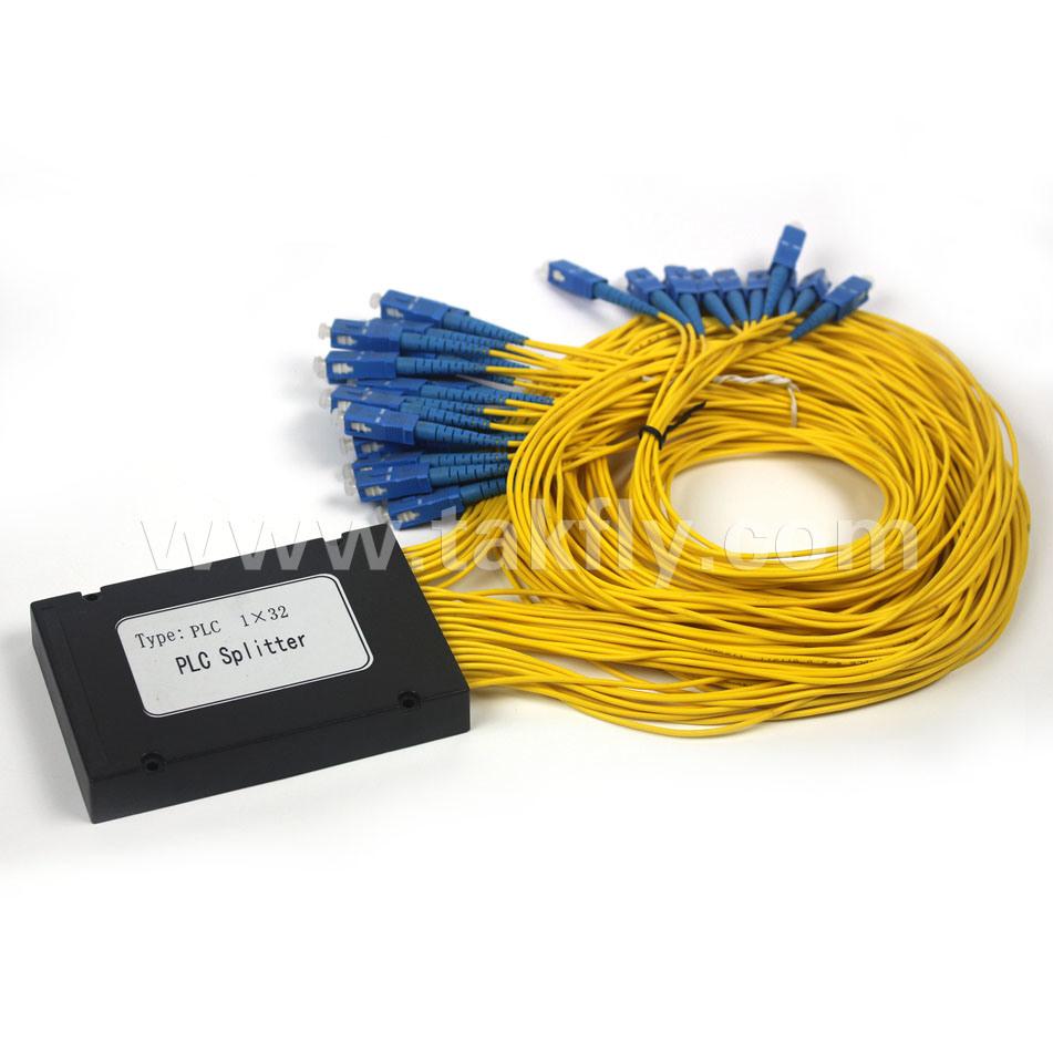 1X8 1X16 1X32 1X64 Steel Tube Type Fiber Optic PLC Splitter