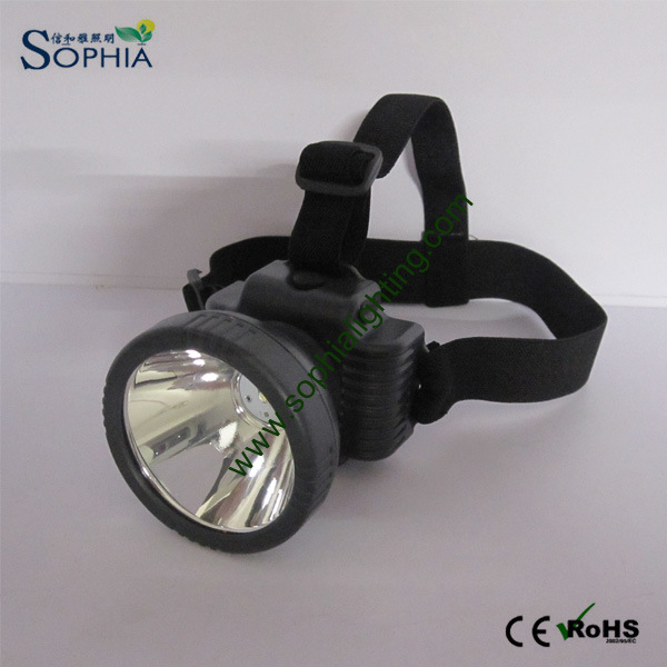 5W CREE LED Headlamp Waterproof Design Lasts 26 Hours