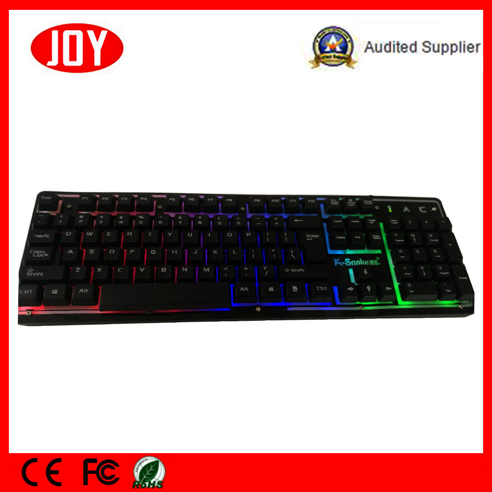 Metal USB Wired Computer Keyboard with Backlight