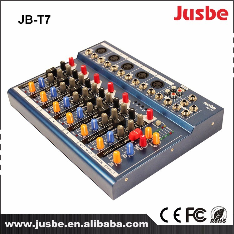 Professional Audio Speaker System 7-Channel Sound Power Mixer for Night Club