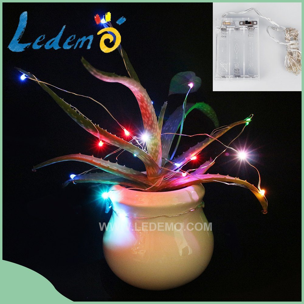 LED Multicolor Copper Wire 3AA Battery Light