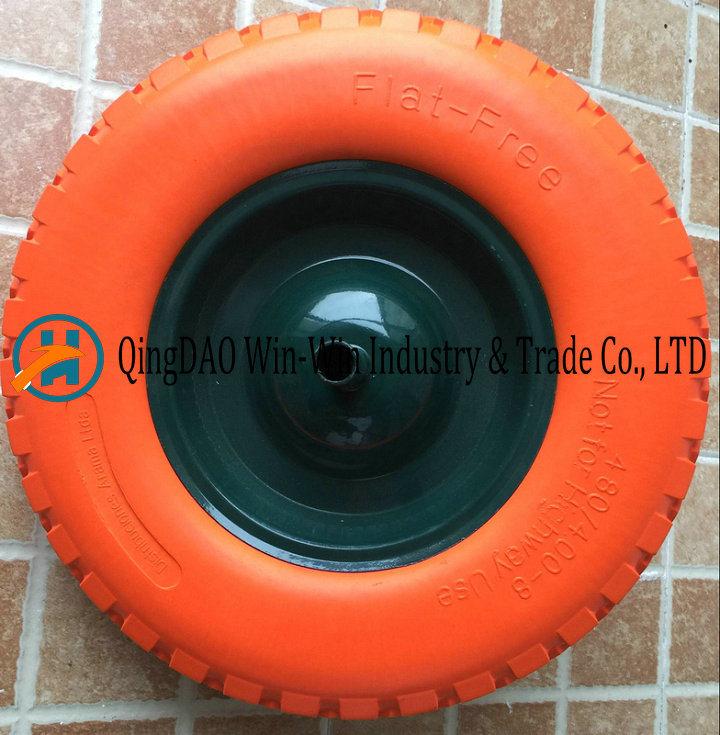 480/400-8 Solid Flat Free PU Foam Wheel