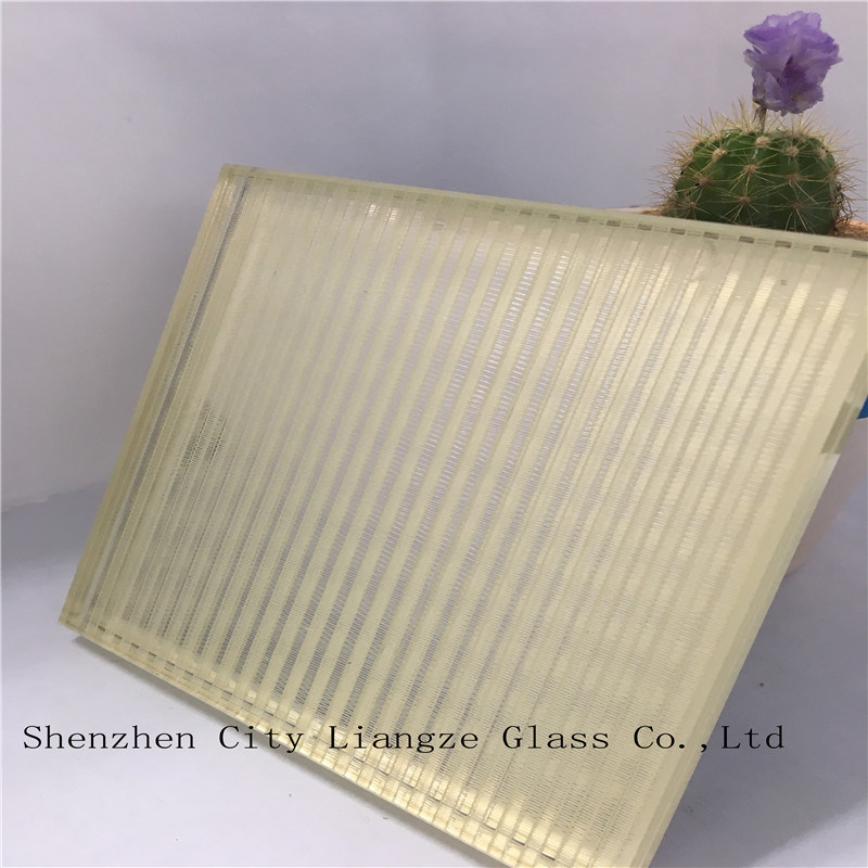 10mm Light Golden Laminated Glass/Craft Glass/Art Glass/Tempered Glass for Decoration