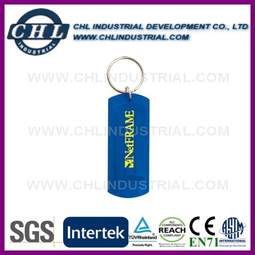 Portable Promotional Plastic LED Flash Light with Keychain