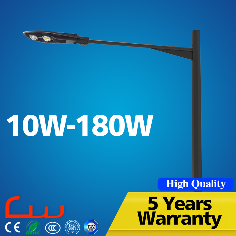 Double Arm 100W Outdoor LED Street Light with Pole