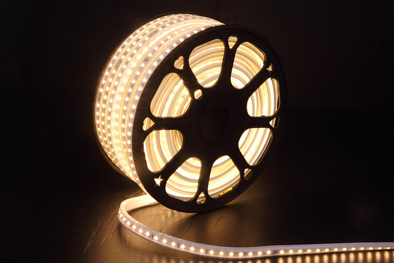 110V/230V Waterproof LED Rope Light White PVC High Brightness 5050 LED Strip LED