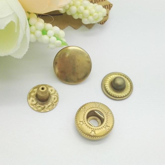 Nickel Color Custom Metal Snap Buttons