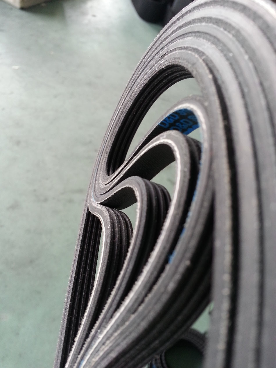 Multi-Wedge Rubber Timing Belts for Industry