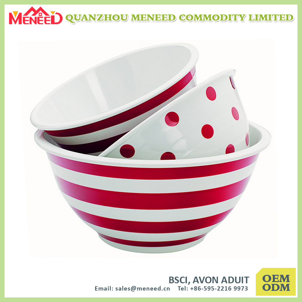 Daily Use 6 PCS Melamine Mixing Bowl