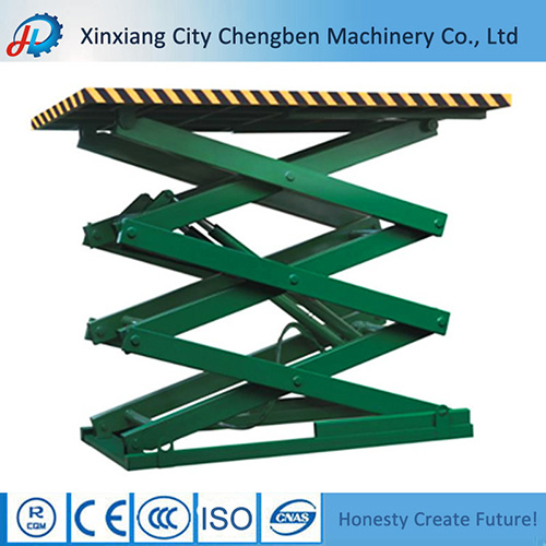 Basement / Garage Used Stationary Hydraulic Cargo Lifting Equipment for Heavy Car Lifting